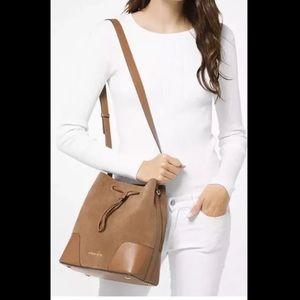 Michael Kors Suede Bucket Bag